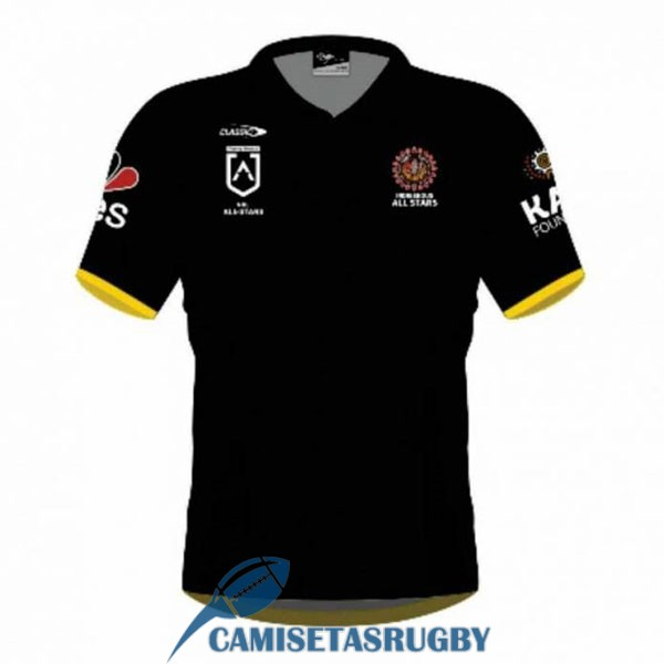 camiseta all stars rugby indigenous negro 2021
