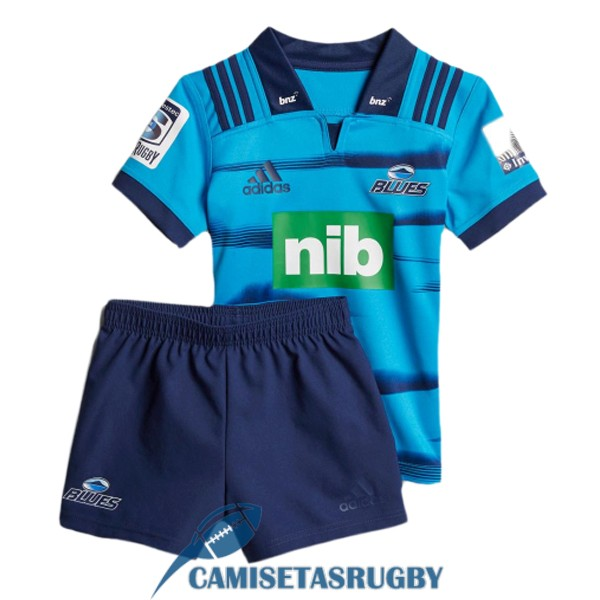 camiseta blues rugby ninos kit azul 2018-2019