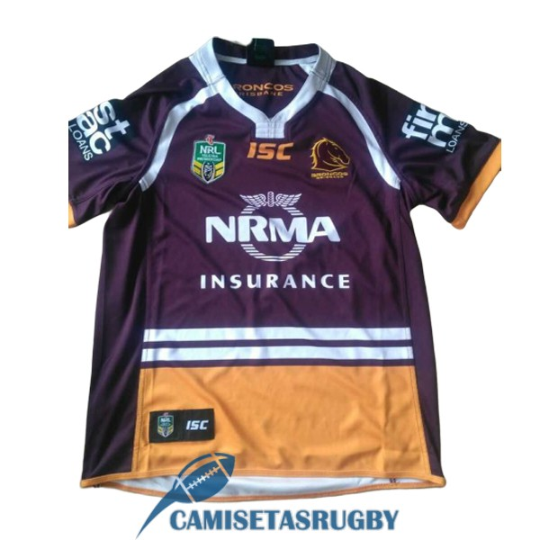 camiseta brisbane broncos rugby local 2017-2018
