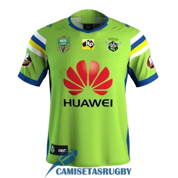 camiseta canberra raiders rugby local 2018