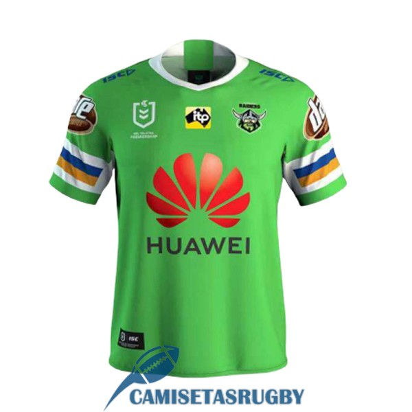 camiseta canberra raiders rugby local 2020