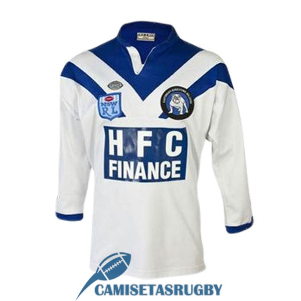 camiseta canterbury bankstown bulldogs rugby manga largas retro 1985