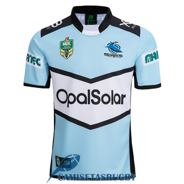 camiseta cronulla sutherland sharks rugby local 2018-2019