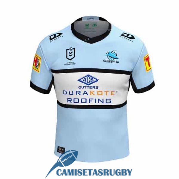 camiseta cronulla sutherland sharks rugby local 2020