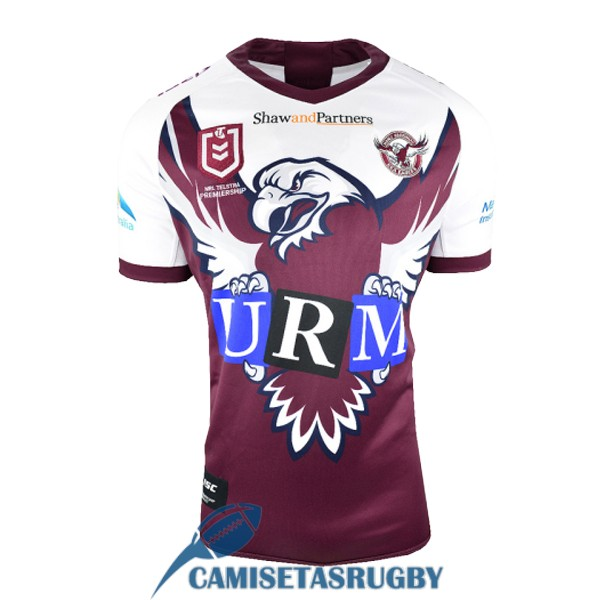 camiseta manly sea eagles rugby heroe blanco purpura 2019
