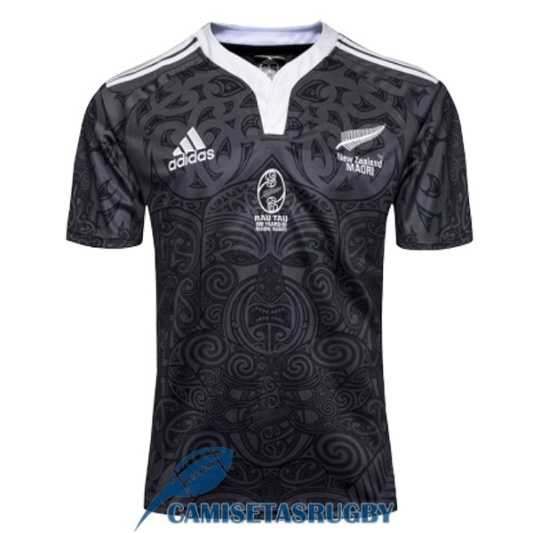 camiseta maori all blacks rugby 100aniversario conmemorativa 2019