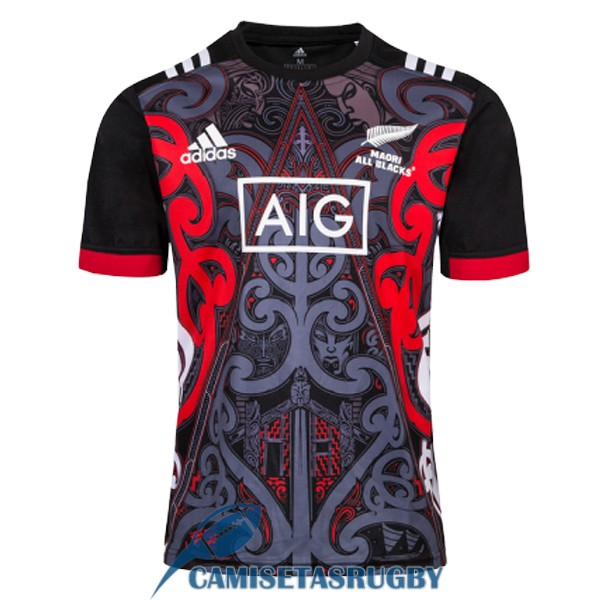 camiseta maori all blacks rugby entrenamiento 2019