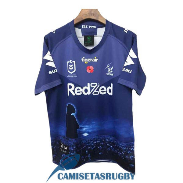 camiseta melbourne storm rugby conmemorativa azul 2021<br /><span class=