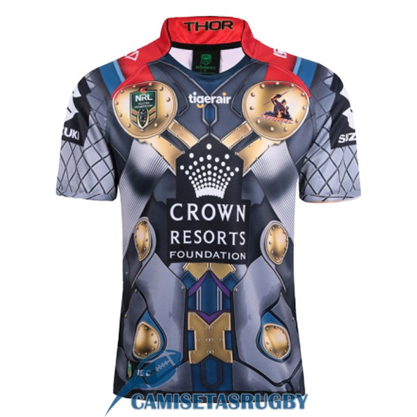 camiseta melbourne storm rugby gris 2017