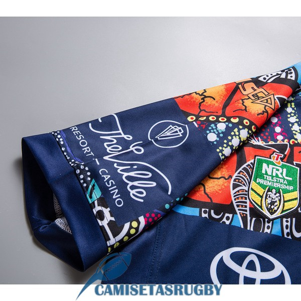 camiseta north queensland cowboys rugby indigenous 2019