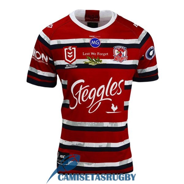 camiseta sydney roosters rugby conmemorativa 2020