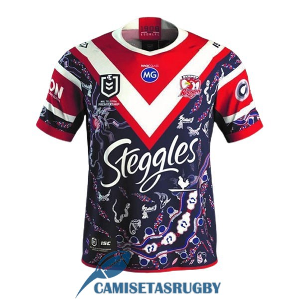 camiseta sydney roosters rugby indigenous 2021