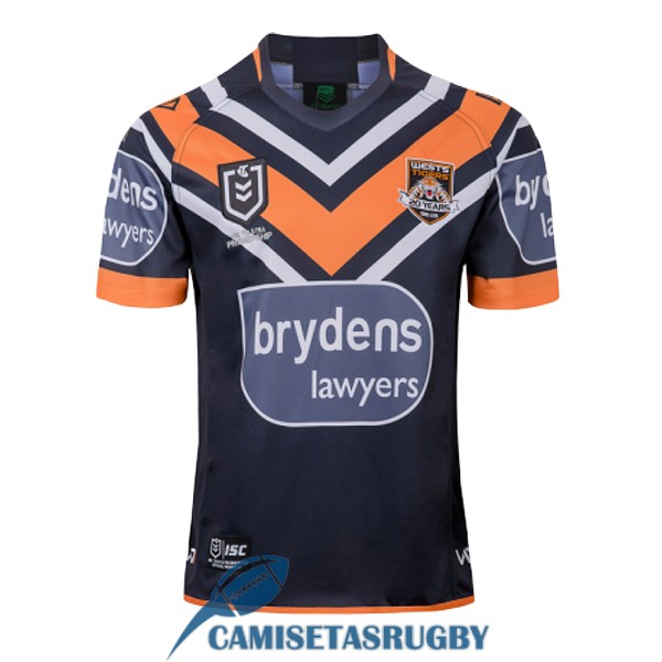 camiseta wests tigers rugby local 2019-2020