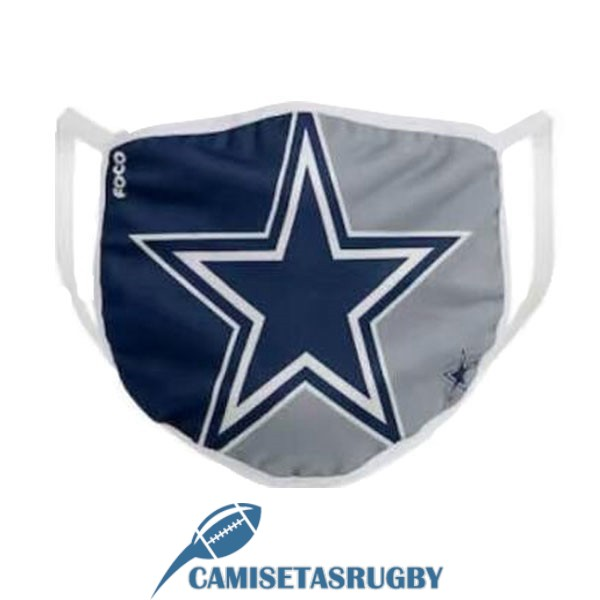 mascarilla dallas cowboys gris azul