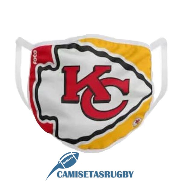 mascarilla kansas city chiefs amarillo rojo blanco