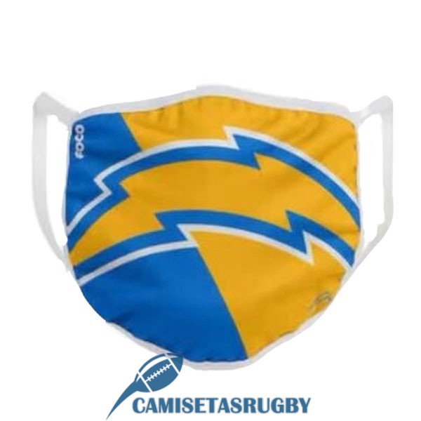 mascarilla los angeles chargers amarillo azul