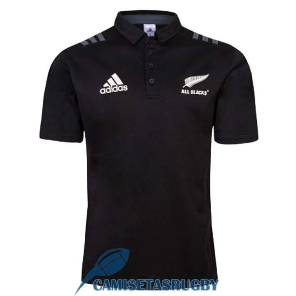 polo all blacks rugby negro 2018-2019