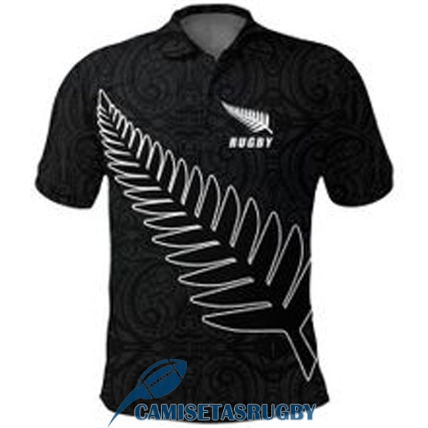 polo all blacks rugby negro 2021