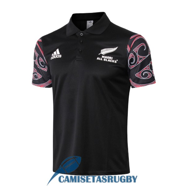 polo maori all blacks rugby negro 2019-2020