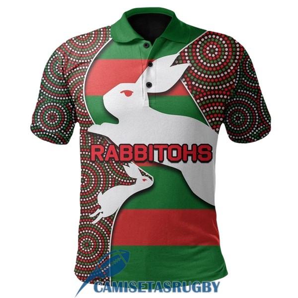 polo south sydney rabbitohs rugby rojo blanco verde 2020-2021