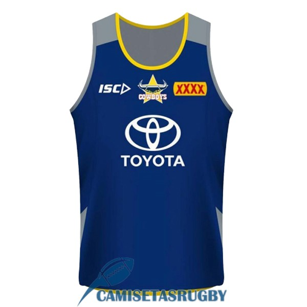 singlet north queensland cowboys rugby azul 2018-2019 [rugby-104]