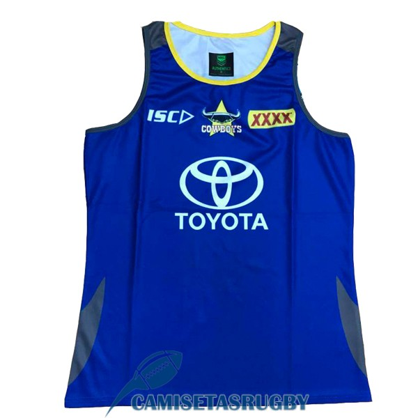 singlet north queensland cowboys rugby azul 2018-2019<br /><span class=