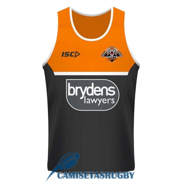 singlet wests tigers rugby naranja negro 2018-2019 [rugby-175]