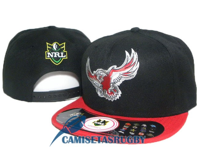 sombrero manly sea eagles NRL negro rojo [rugby-20-6-10-24]