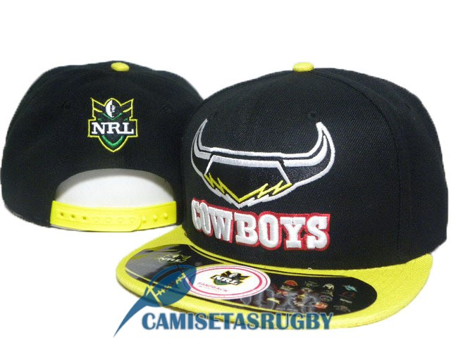 sombrero north queensland cowboys NRL amarillo negro A